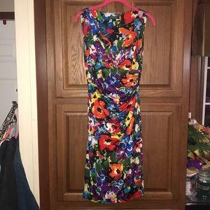 Ralph Lauren Floral Multi Color Dress Size 2